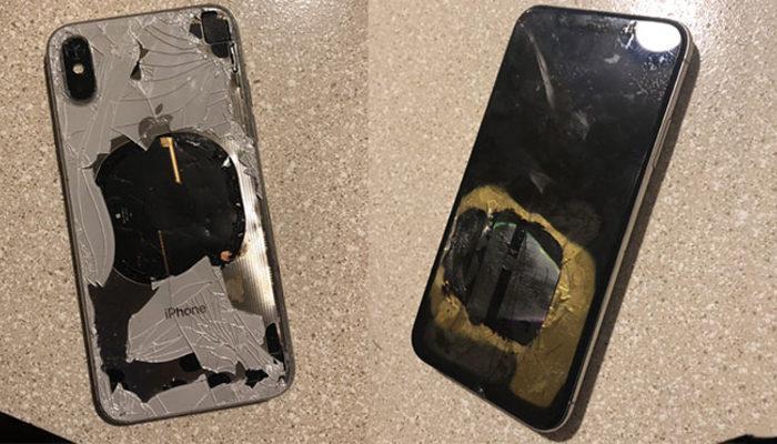 iPhone X bomba gibi patladı!