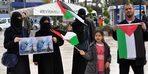 Reyhanlı'daki Filistinlilerden Gazze'ye destek