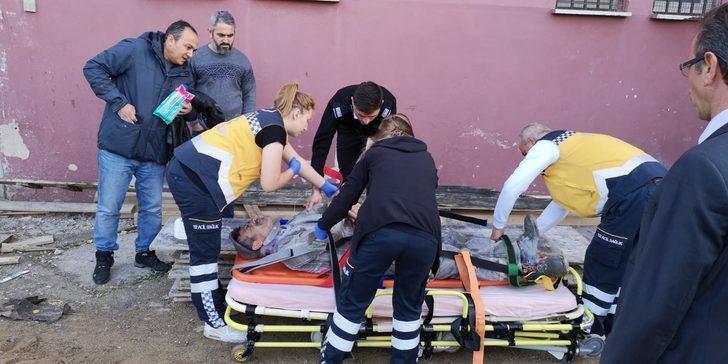Okuldasıvayaparken düşerek ağır yaralandı