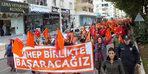 Kadınlardan şiddete karşı renkli yürüyüş