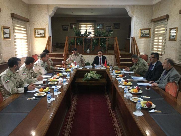 Kaymakam Dundar, sınır güvenliği toplantısına katıldı