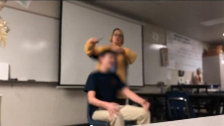 Öğrencisinin zorla saçını kesen öğretmen tutuklandı!