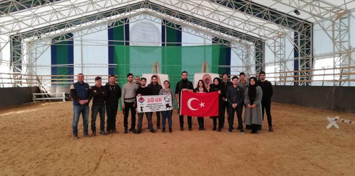 Düzce Üniversitesi Binicilik ve geleneksel Türk okçuluğu topluluğu Getok bölge liglerinde kazandı