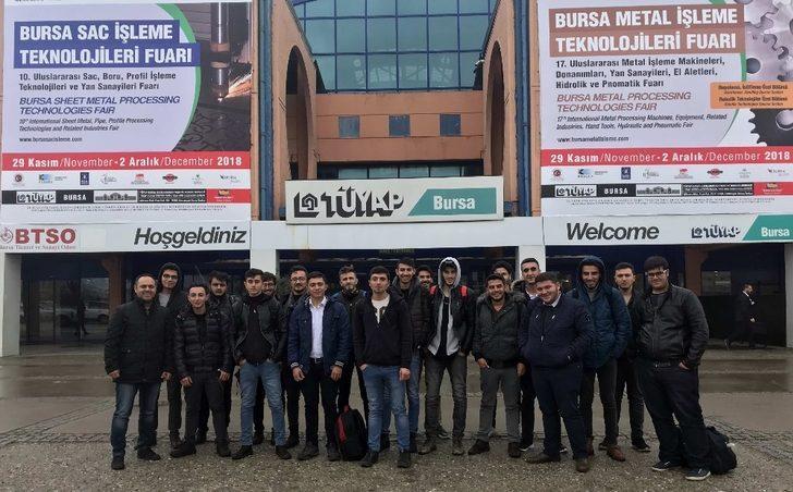 Gaün Naci Topçuoğlu Meslek Yüksekokulu Öğrencilerinden Bursa Fuarına Teknik Gezi