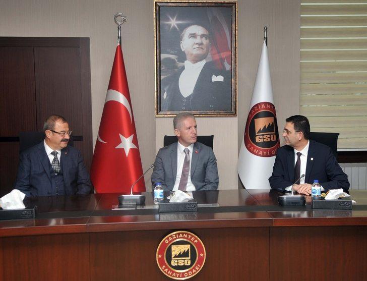 Vali Davut Gül'den GSO'ya ziyaret