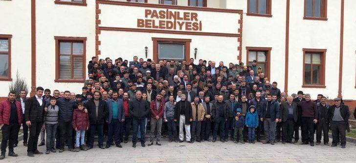 Pasinler'de Ünsal Sertoğlu'na tam destek