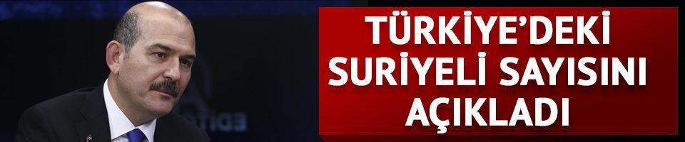Türkiye'de kaç Suriyeli var? İçişleri Bakanı Soylu açıkladı