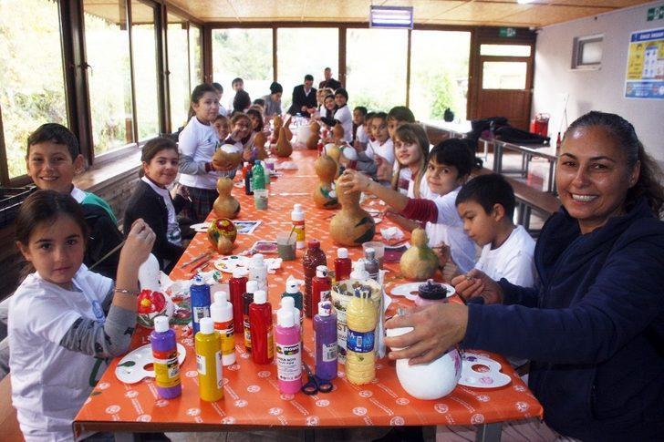 öğrenciler Su Kabağı Boyama Ve Quilling öğreniyor Antalya Haberleri