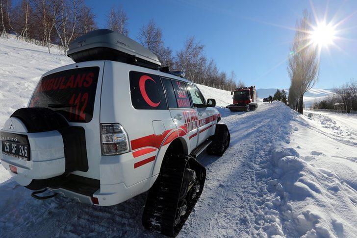 Erzurum'da 112 Acil ekipleri kışa hazır