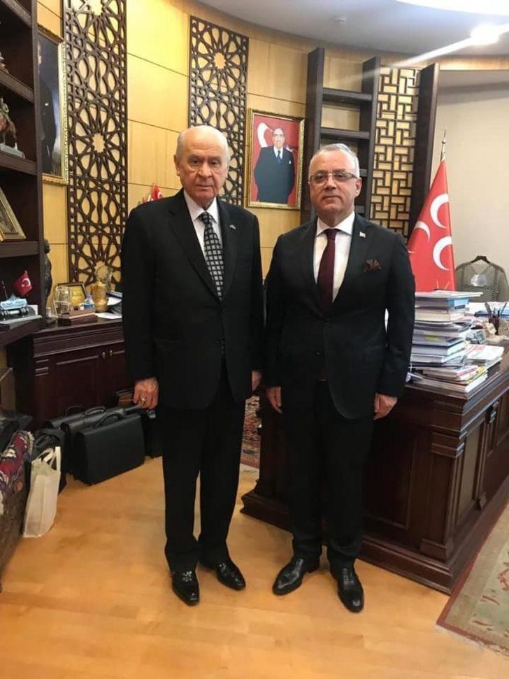 Başkan Kayda'dan, Bahçeli'ye teşekkür ziyareti