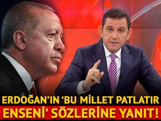 Erdoğan'ın 'Bu millet patlatır enseni' sözlerine Portakal'dan yanıt geldi