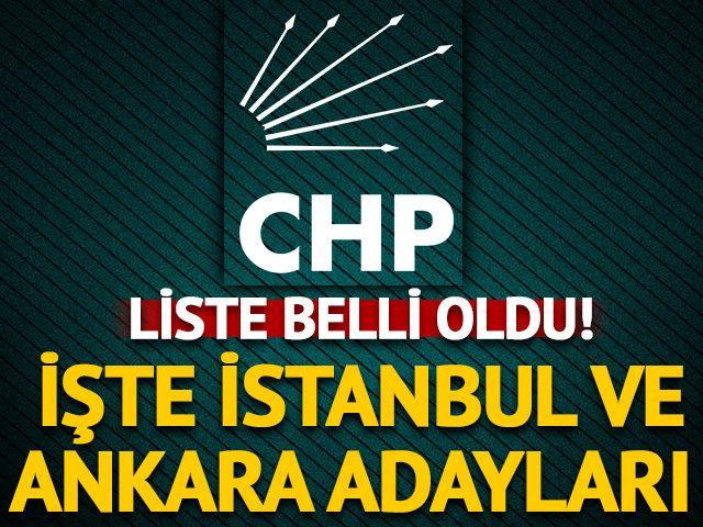 CHP'nin 4 büyükşehir adayı kesinleşti