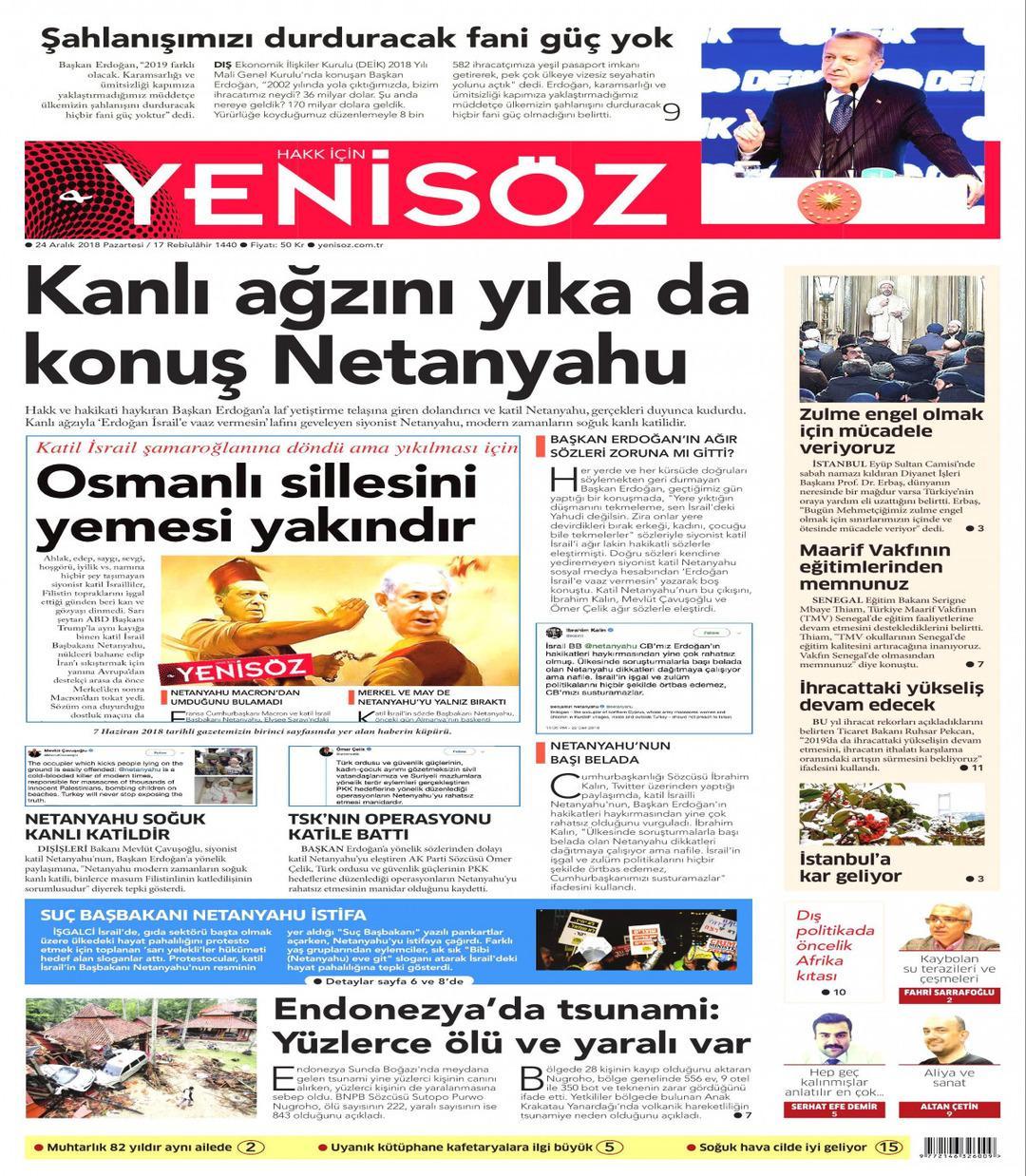Yeni Söz Gazetesi gazetesi