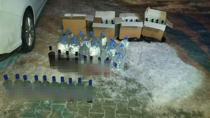Gölbaşı'nda sahte ve kaçak içki operasyonu: 1 gözaltı