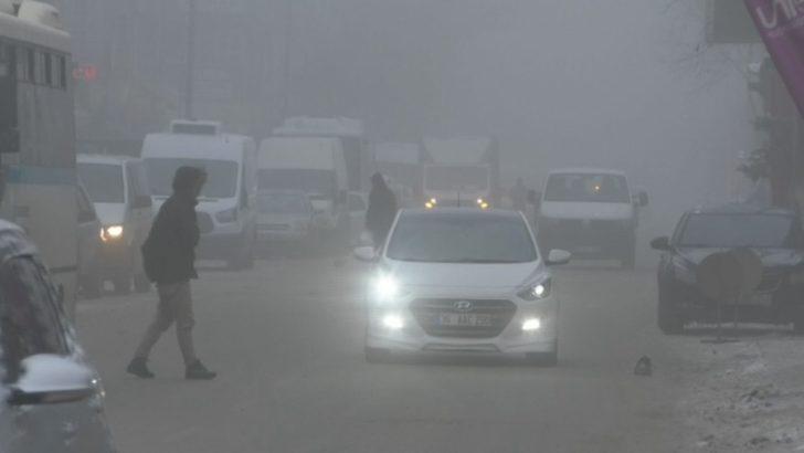 Kars'ta sis etkili oldu