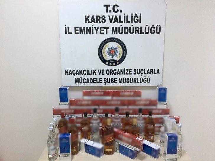 Kars polisinden sahte içki ve uyuşturucu operasyonu