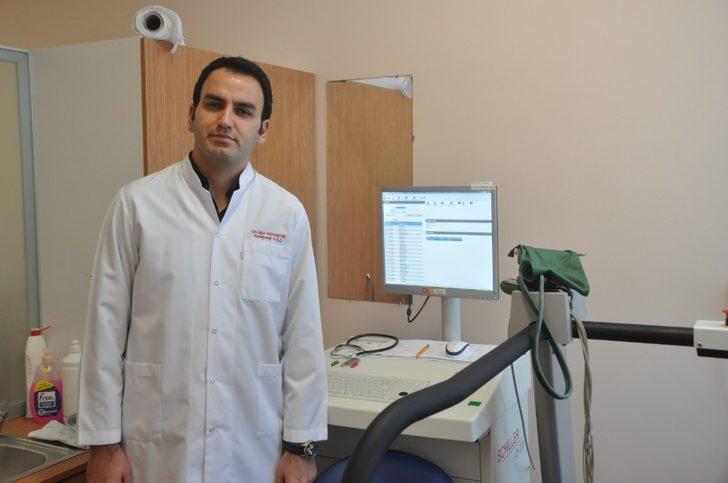 Kaman ilçesinde efor testleri Eğitim ve Araştırma Hastanesine gitmeden yapılacak