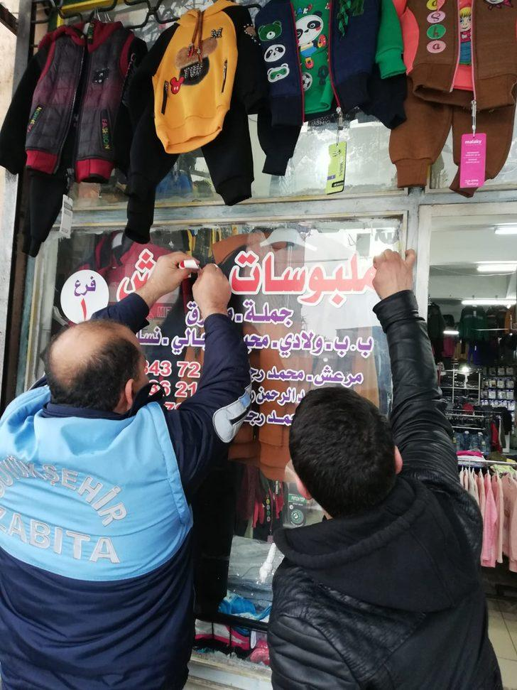 Kahramanmaraş'ta, Arapça yazılı tabelalar söküldü