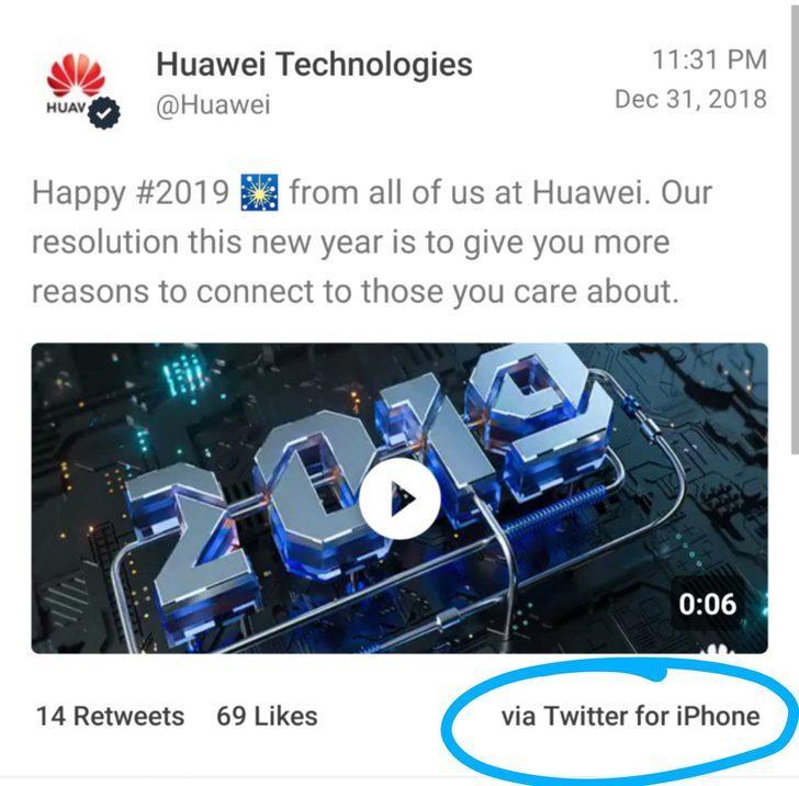 IPhone ile kurumsal mesaj atanHuawei çalışanları cezalandırıldı