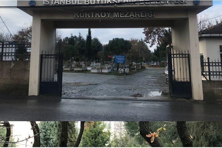 Pendik'teki mezarlıkta Ukrayna zanlısından geriye kalan izler