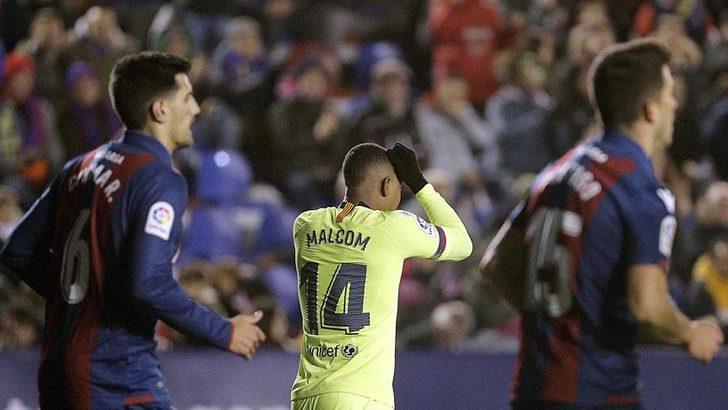 Barcelona Kral Kupası'nda Levante'ye 2-1 mağlup oldu