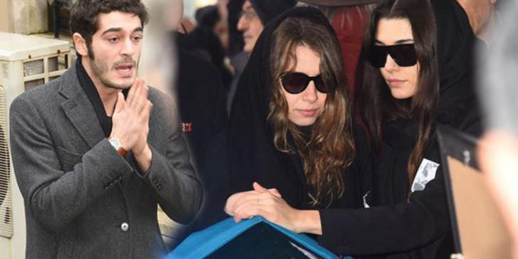 Hande Erçel'in annesinin cenazesinde Burak Deniz'ın bu hali olay oldu