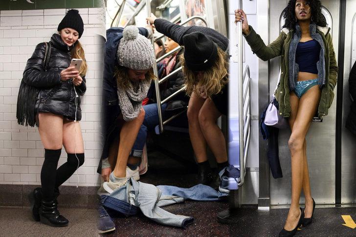 Metroda şaşırtan görüntü! Herkes bir anda pantolonunu indirindi