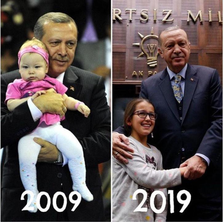 AK Parti'den Erdoğan'lı '10YearsChallenge' paylaşımı