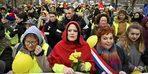 Fransa'da 'sarı yelekli kadınlardan' gösteri