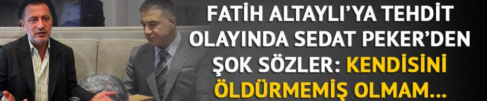 Fatih Altaylı'yı tehdit davasında Sedat Peker'e beraat!