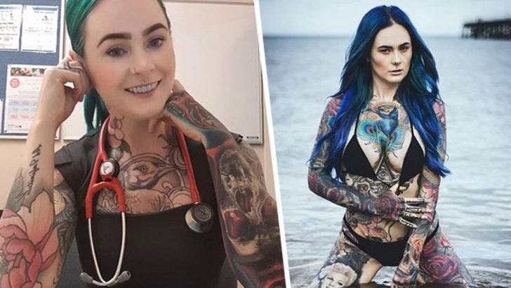 Dünyanın en çok dövmesine sahip doktoru: Sarah Gray