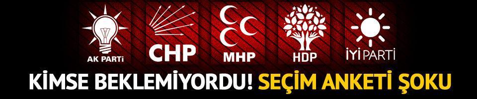 AK Parti ve HDP'ye seçim anketi şoku!