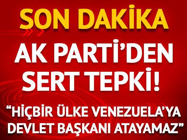 Çelik: Hiçbir ülke Venezuela'ya devlet başkanı atayamaz