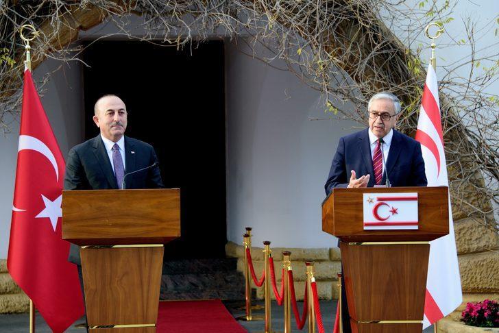 KKTC CumhurbaşkanıAkıncı ile Bakan Çavuşoğlu ortak basın toplantısı düzenledi