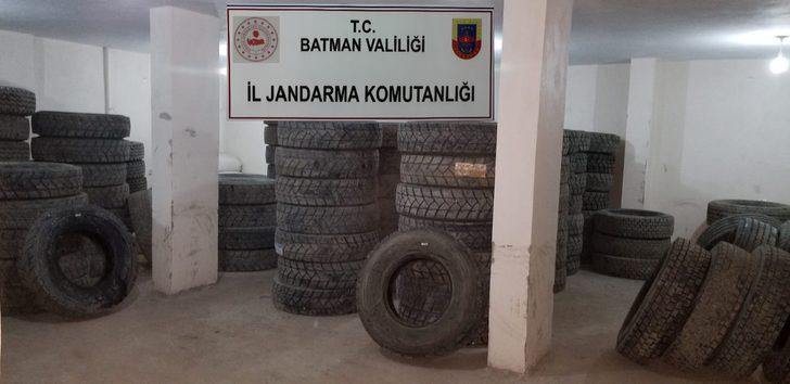 Batman'da 673 bin lira değerinde kaçak lastik ele geçirildi