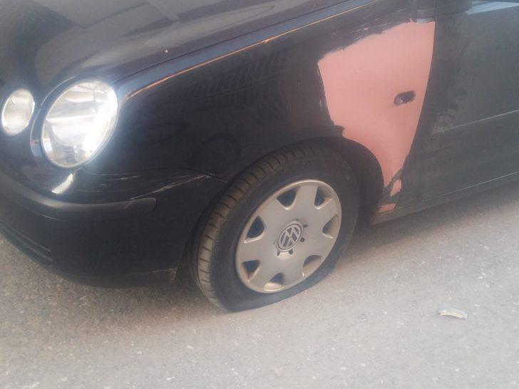 Otomobil lastiklerine zarar veren şüpheli, yakalandı