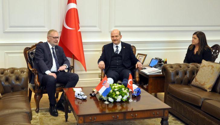 Bakan Soylu, Hırvat mevkidaşıyla görüştü