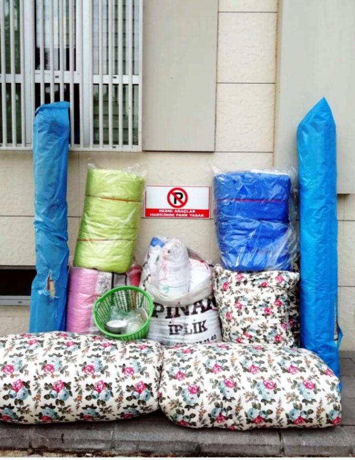 Evden halı, yorgan, yastık hırsızlığına 3 tutuklama