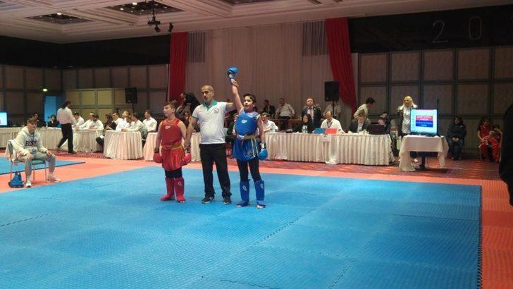 Türkiye Wushu Kung Fu Şampiyonası'da Karslı minik sporcu bronz madalya aldı