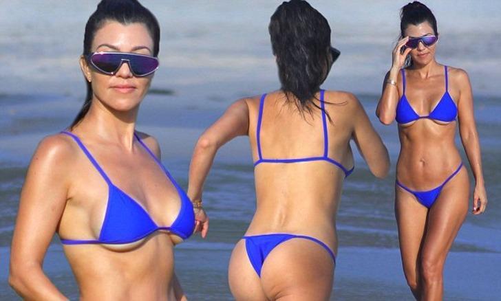 Kourtney Kardashian'dan iç çamaşırlı poz