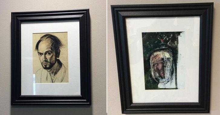 Yavaşça silinmiş tüm anılar: Alzheimer teşhisi konulduktan sonra hatırladığı kadarıyla kendi yüzünü çizen ressam