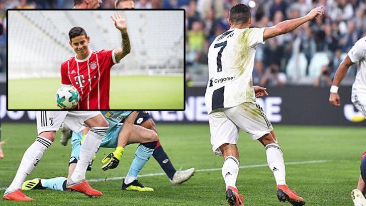 Cristiano Ronaldo'dan James Rodriguez'e telefon: Buraya gel