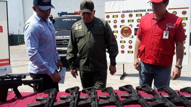 ABD'nin 'müdahale' iddiaları konuşulurken Venezuela'da ABD silahları ele geçirildi