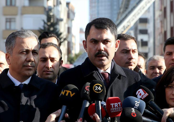 Bakan Murat Kurum'dan çöken binaya ilişkin açıklama: Bölgede kentsel dönüşümü başlatacağız
