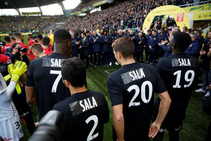 Nimes maçı öncesi Nantes Emiliano Sala'yı andı
