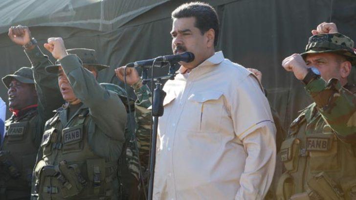 Orduyla birlikte kameraların karşısına çıktı! Maduro, ABD'ye böyle meydan okudu!