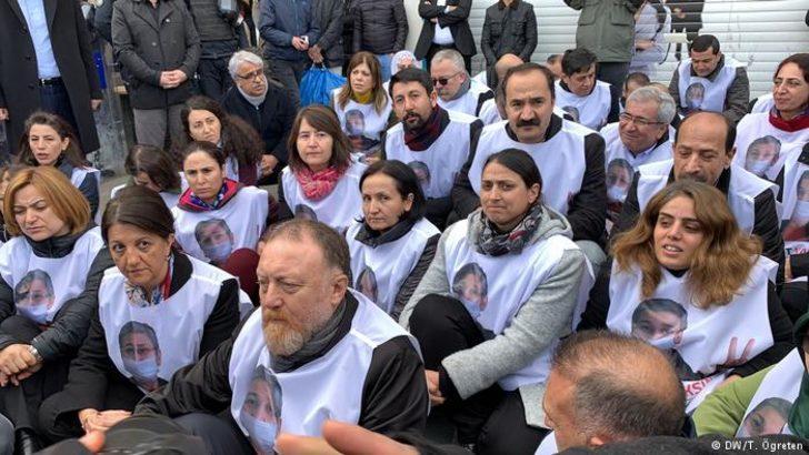 HDP'den Leyla Güven protestosu