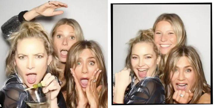 Kate Hudson, Jennifer Aniston ve Gwyneth Paltrow'dan 'ölümüne kankayız' pozu!