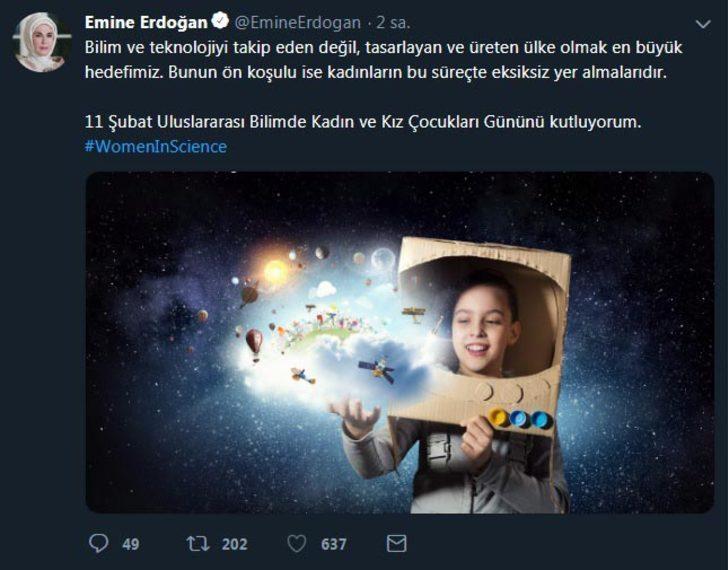 Emine Erdoğan: Bilim ve teknolojiyi üreten ülke olmak en büyük hedefimiz