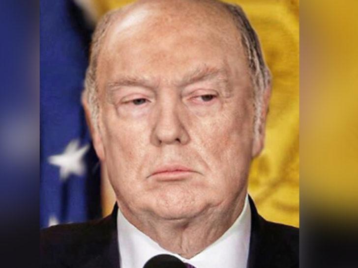 Sosyal medya kullanıcıları sordu: Trump bronzlaştırıcısı ve peruğu olmasa neye benzerdi?